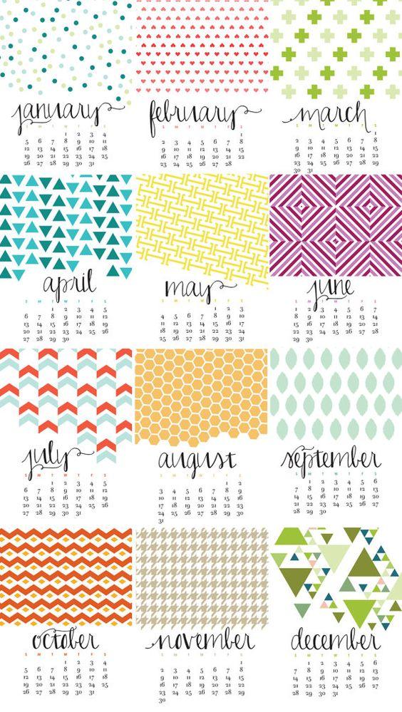 July Calendar Design : Monthly wall calendar bold modern chic designs