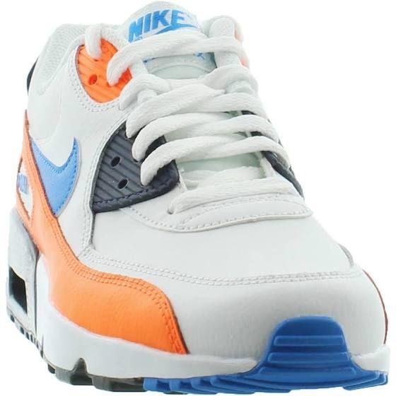 air max 90 white photo blue total orange