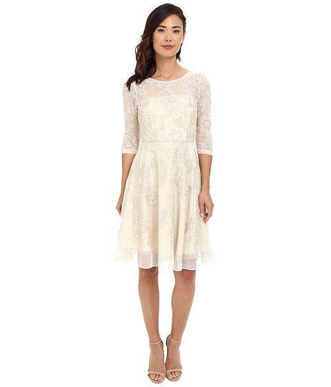 Lace dress fit and flare 3 4