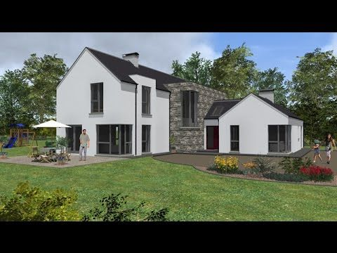 Irish House Plans Type mod   YouTube   House Design   Pinterest    Exterior movie of our house plan To view more details and alternative version   please   our website   irish house plans ie