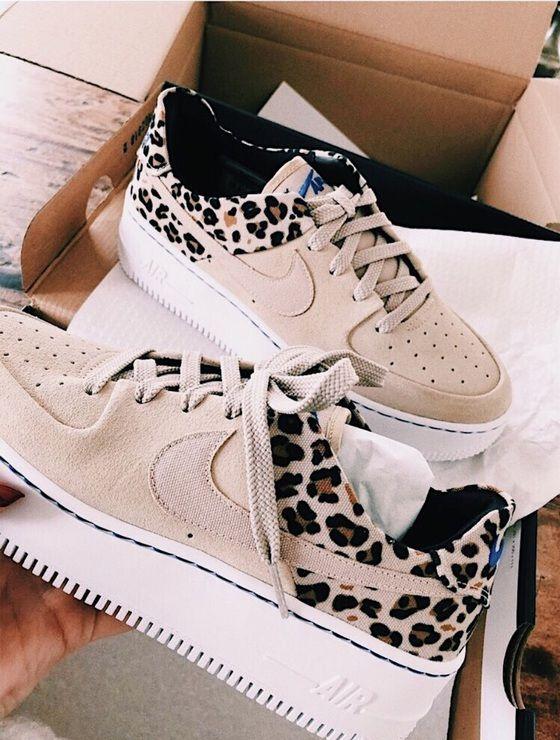 Schuhe, Nike, Leopardenmuster, Bräune mit Geparden, Nike