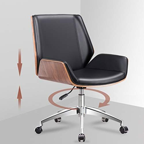 Wxf Home Leather Lounge Chair Nordic Backrest Manager Swivel Computer Chair Conference Chair Boss Chair Leather Lounge Chair Leather Lounge Conference Chairs