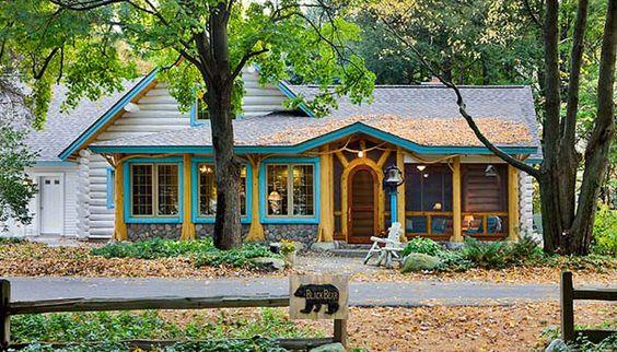 Black bear home luxury cottages and log homes for Cedar cabin floor plans