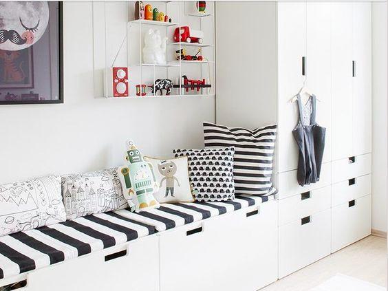 Los módulos Stuva (Ikea) son una de las piezas favoritas de Kidsmopolitan para las habitaciones de los más pequeños por su diseño, tamaño y precio.