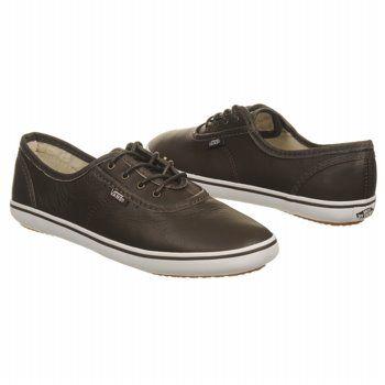 Women's Brown Leather Tennis Shoes | Athletics Vans Women's Cedar ...