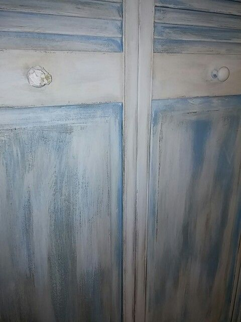 Disressed Shabby chic Shutters by Jan Lunsford