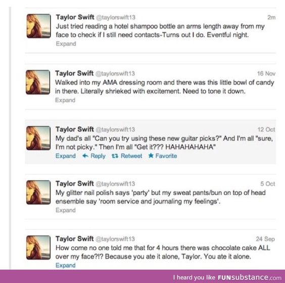 Nobody makes fun of Taylor Swift like Taylor Swift makes fun of Taylor Swift.