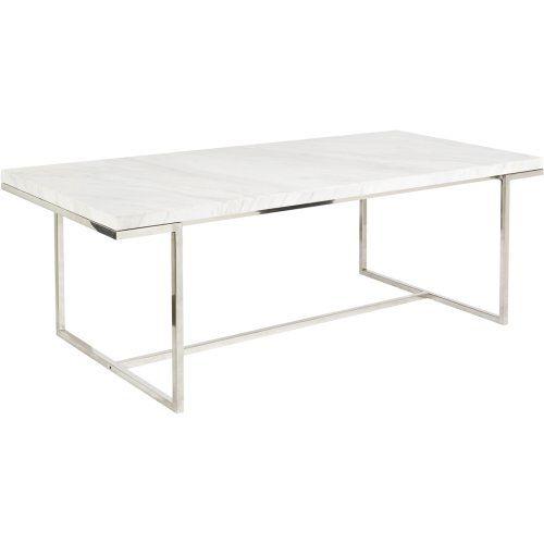 Custom White Stone Table : marble desk marble dining tables marble top white marble dining rooms ...