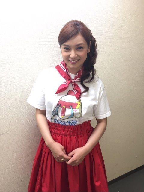 可愛いTシャツの平愛梨さん!