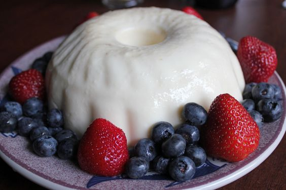 Blancmange, based on Thomas Jefferson's recipe.