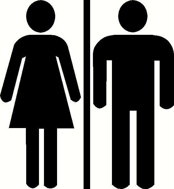 Restroom Door Decal Bathroom Sign Unisex Restroom Sticker Wc