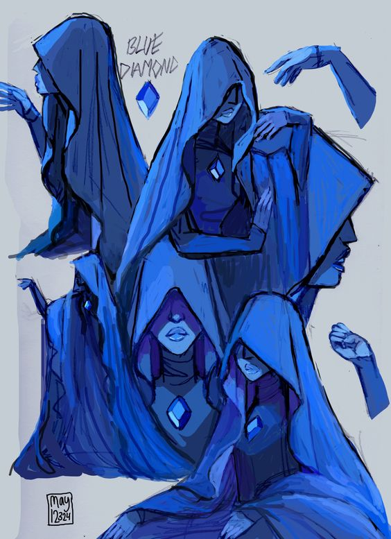 """may12324: """" Blue Diamond. She's so sinister looking, I love it ..."""
