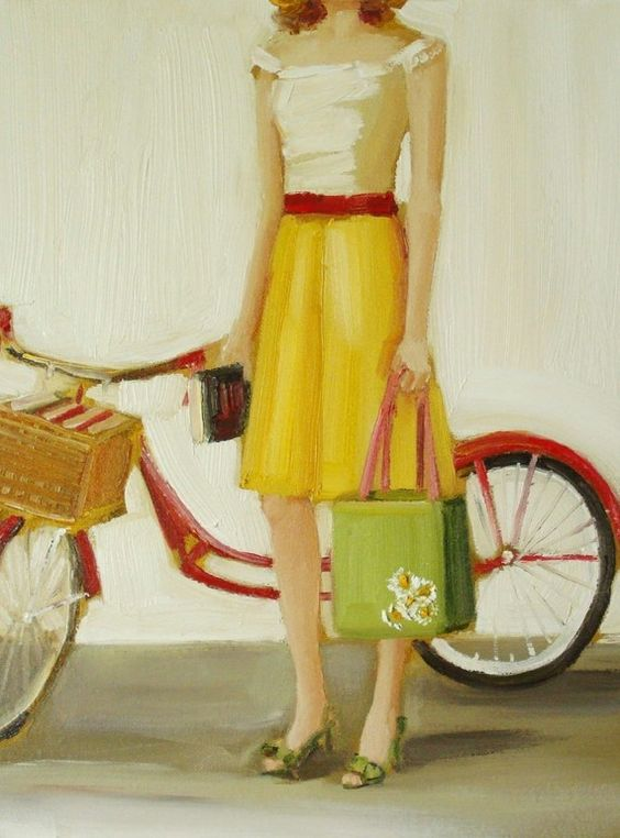 Bicycle and book print