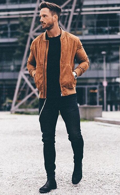 Coffee Color leather Jacket for Men