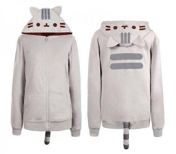 Keep Warm and Stay Cute - Pusheen hoodie