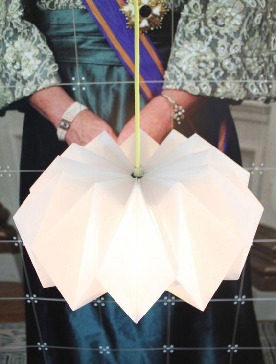 tuto-- Fabriquer une lampe en origami Projet : Lumi?re ...