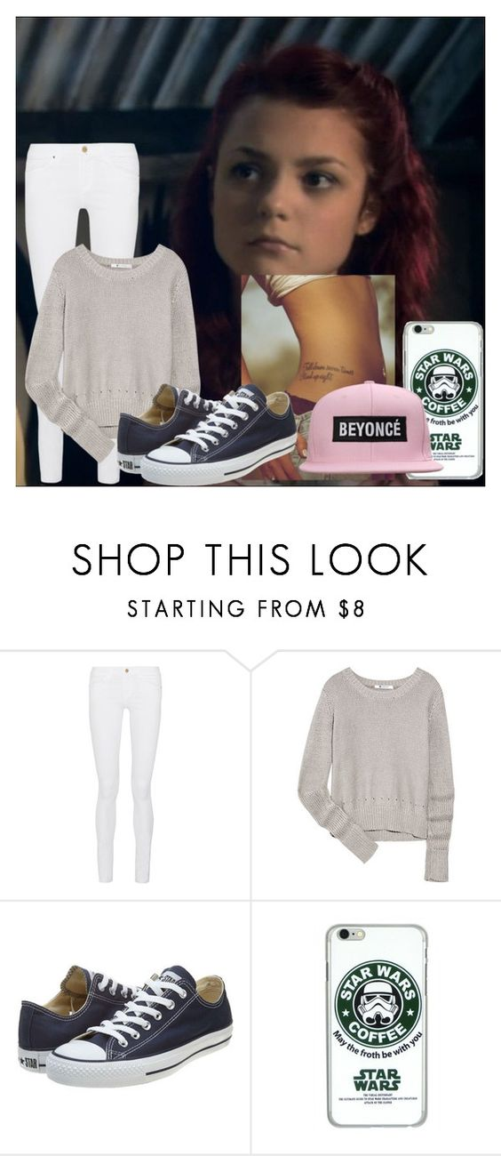 """""""Two can keep a secret if one of them is dead..."""" by just-c0me-h0me ❤ liked on Polyvore featuring Frame Denim, T By Alexander Wang, Converse, women's clothing, women, female, woman, misses and juniors"""