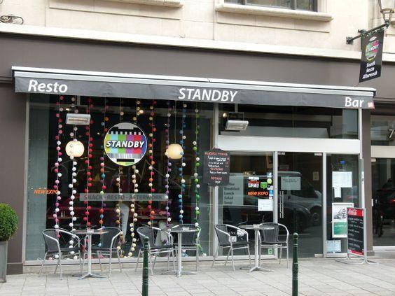 Een perfecte beschrijving van Brussel in uw bord. Multicultureel