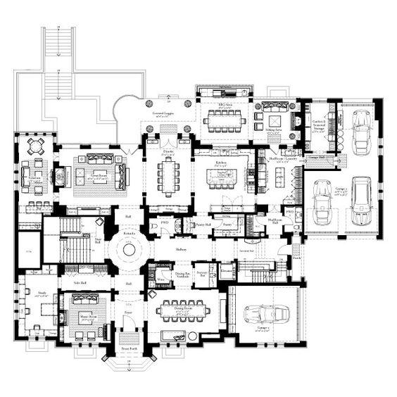 Mega Mansion Floor Plans: The Balsam Estate Floorplan