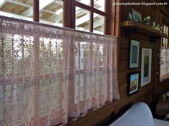 Cortinas decorativas jeito de casa artesanal pinterest for Cortinas decorativas