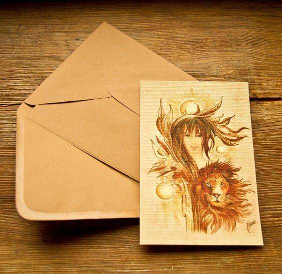 """THE LEO"" - Protective Angel for Zodiac Sign/ by Anna Miarczynska"