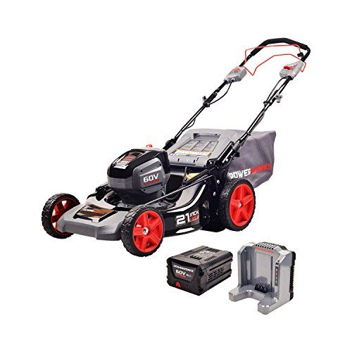 Today S Amazon Goldbox Save On Powerworks 60v 21 Inch Sp Mower 5 0ah Battery And Charger Included Mo60l512pw And With Images Best Lawn Mower Push Mower Push Lawn Mower