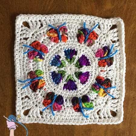 I reworked my butterflies to lay flat, super happy with how they turned out. New free pattern for the Butterfly Blossom Garden Square available to view free on my blog. http://dearestdebi.com/butterfly-blossom-garden-square: