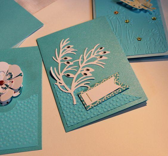 ♥ JanuarKristall ♥ 3er Karten Set von FrlBetty  auf DaWanda.com