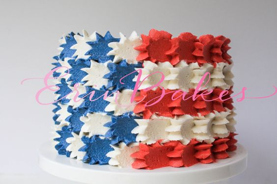 4th of july buttercream cakes