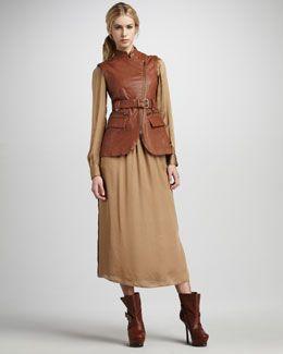 -3RH8 Rachel Zoe Nora Leather Vest