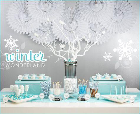Winter Wonderland Dessert Buffet