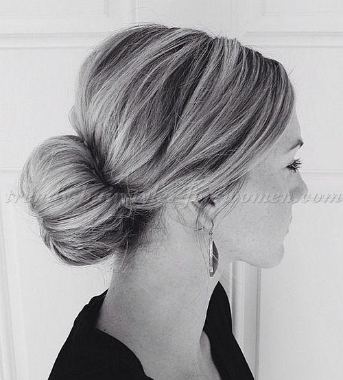 chignon+hairstyles,+low+bun+hairstyles+-+sock+bun
