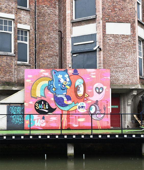 http://atasteofmylife.fr/2015/04/09/street-art-gand/ #visitgent gent ghent gand street art graffiti belgium europe travel tourism