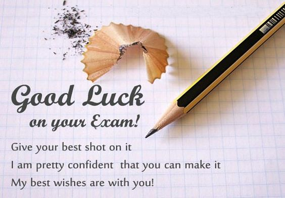 Wish you all the best for exams Best WIshes Pinterest - exam best wishes cards