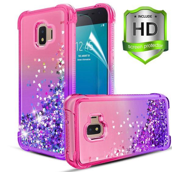 Amazon Com Compatible With Samsung Galaxy J2 Case J2 Shine J2 Core J2 Dash J2 Pure J260 Case W Hd Screen Protector Dual L Case Screen Protector Samsung Galaxy