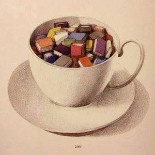 Bibpolitec Blog: Frases, imágenes, curiosidades... (32): Café con... libros
