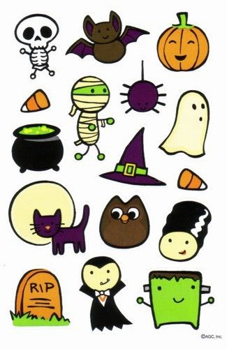 SUPER Kawaii Halloween Stickers by MADsLucky13 on Flickr