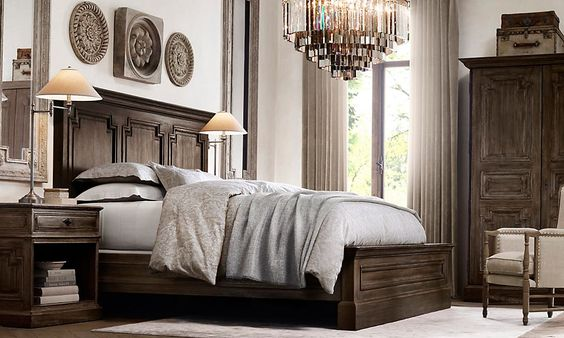 Restoration Hardware Bedroom Love The Bedding And Lighting Home Sweet Home Pinterest