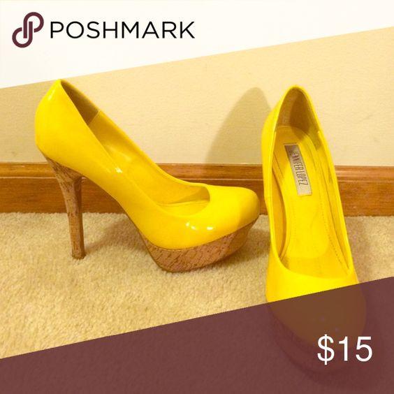 Selling this Yellow heels on Poshmark! My username is: rpcheer13. #shopmycloset…