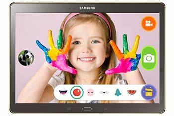 """La tablette Samsung Galaxy Tab S propose un """"Mode Enfant"""" - Le Mode Enfant développé par Samsung propose une interface personnalisée et sécurisée pour les plus jeunes, dans un univers ludo-éducatif unique comprenant plus de 600 applications."""