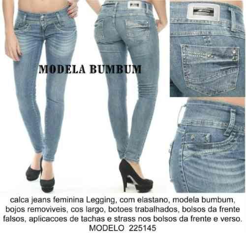 Calça Jeans Sawary Modela Bumbum Com Bojos Removiveis - R$ 99,90