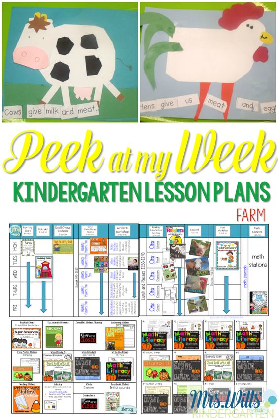 A farm-themed week in your kindergarten classroom can be a lot of fun! Check out these kindergarten farm activities and printables for your students! Math and Literacy fun for kids!