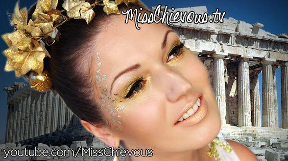 Greek Goddess Tutorial for Halloween: Makeup, Costume, Hair & Accessories