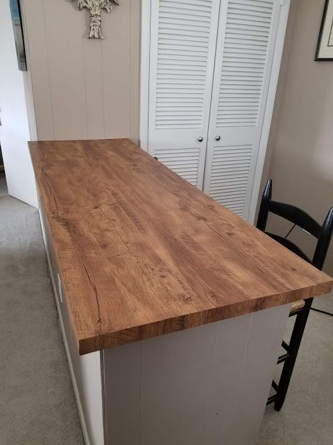 How I Updated A Countertop With Wood Look Contact Paper In 2020