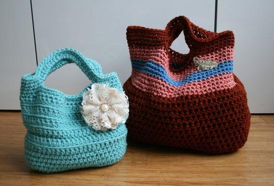 Crochet bag pattern vintage inspired by LuzCrochetPatterns on Etsy, $3.99