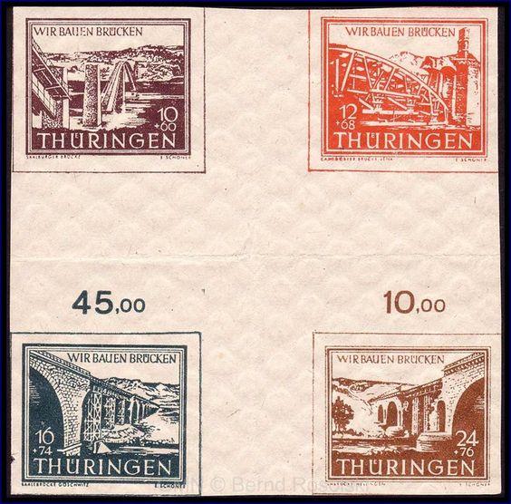 Bridges collection SBZ Thuringia Hz1ay;    Dealer  GEBRÜDER MICHEL NACHF.    Auction  Minimum Bid:  30.00EUR