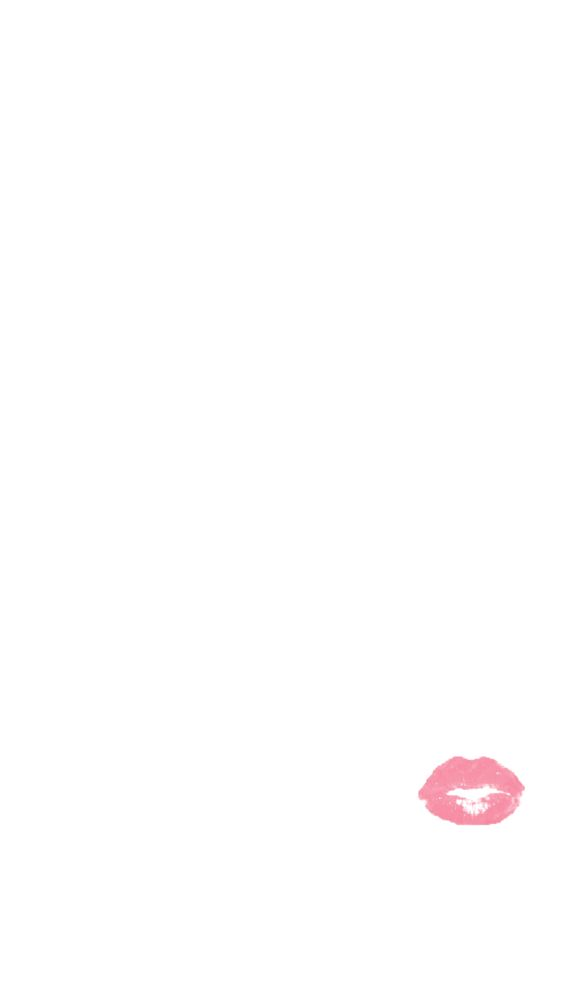 Minimal white pink pout lips iphone phone background lock screen wallpaper