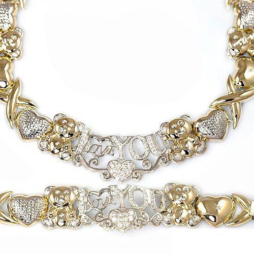 Xoxo Gold Bracelet: This Jumbo Size Necklace And Bracelet Set Is So Fresh And