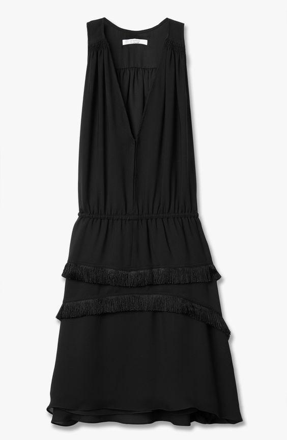 10 Crosby Derek Lam V-Neck Dress