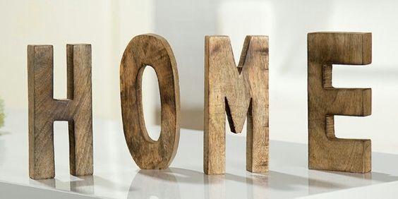 HOME Schriftzug Buchstaben